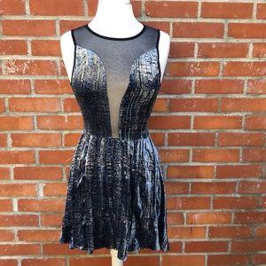 For Love & Lemons Velvet & Mesh Party Dress